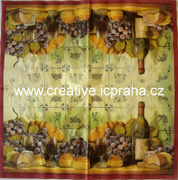 víno-zátiší se sýry