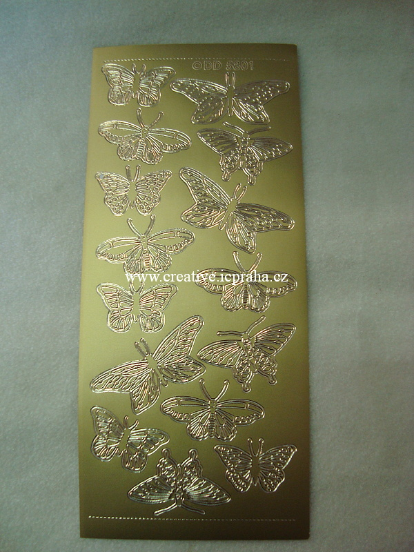 motýli - zlaté D5801101