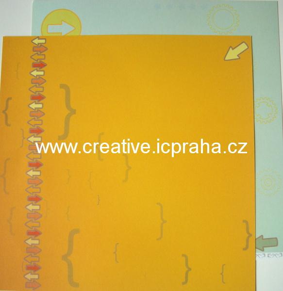 Institut  - šipky oranž 30x30/190g/m2