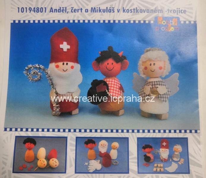 skládačka Anděl, čert a Mikuláš  10194801