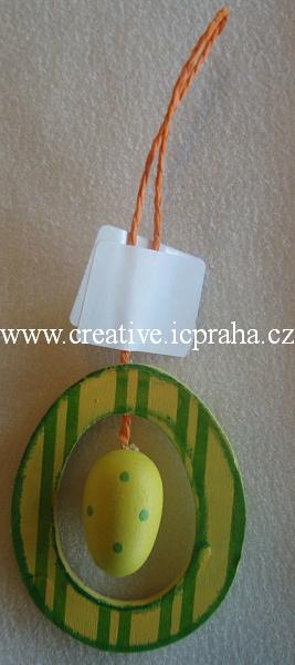 závěs-dřevo-oval s vajíčkem 8138