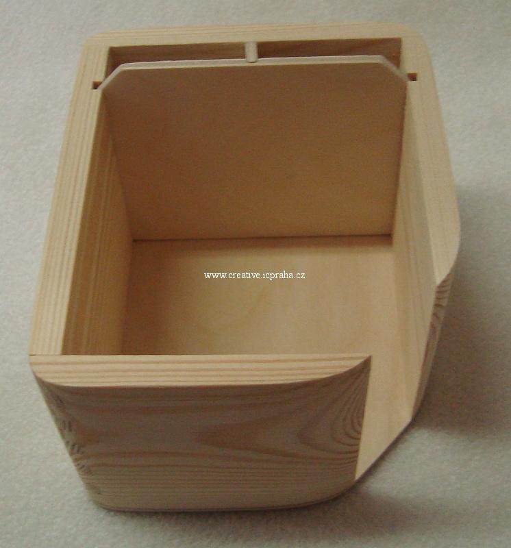krabička na bloček a tužky 12x10x7cm