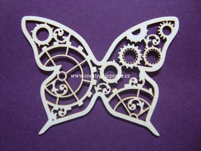 výřezy motýli 3ks 5x6,6cm