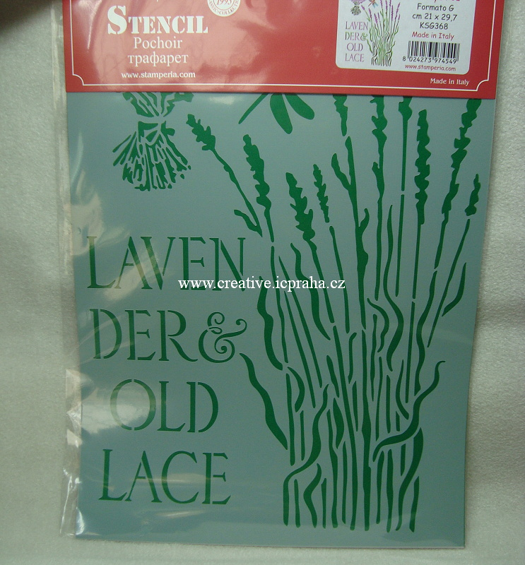 šablona plast Stamperia 21x30cm - Levandule KSG368