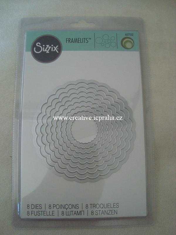 vyřezávací šablona  Sizzix Fram - Kruhy s obloucky