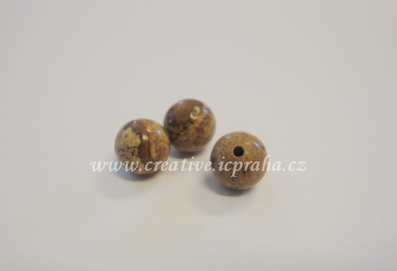 minerály kulička 8mm Jaspis obrázkový bal.10ks
