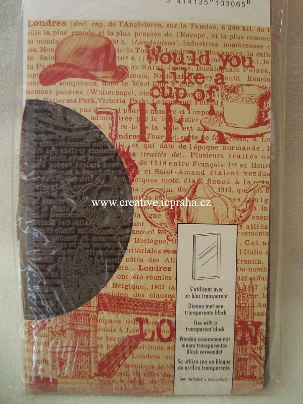 razítka Cling Artemio - Londýn 14,5x9,5cm