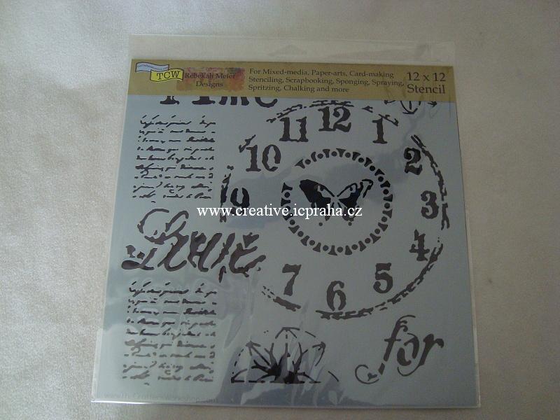 šablona plast TCW 30x30cm Time for Love 622