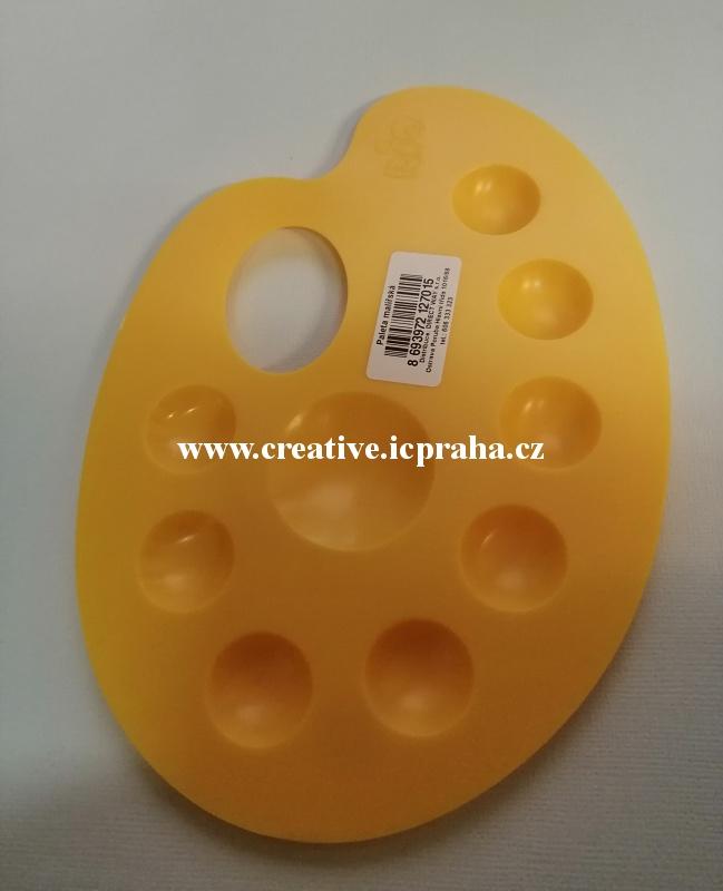 paleta na malování žlutá 14x20cm - plast