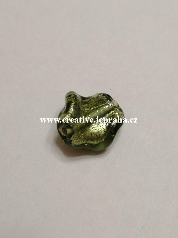 krucánek zelený/stříbro 27019 14x10mm