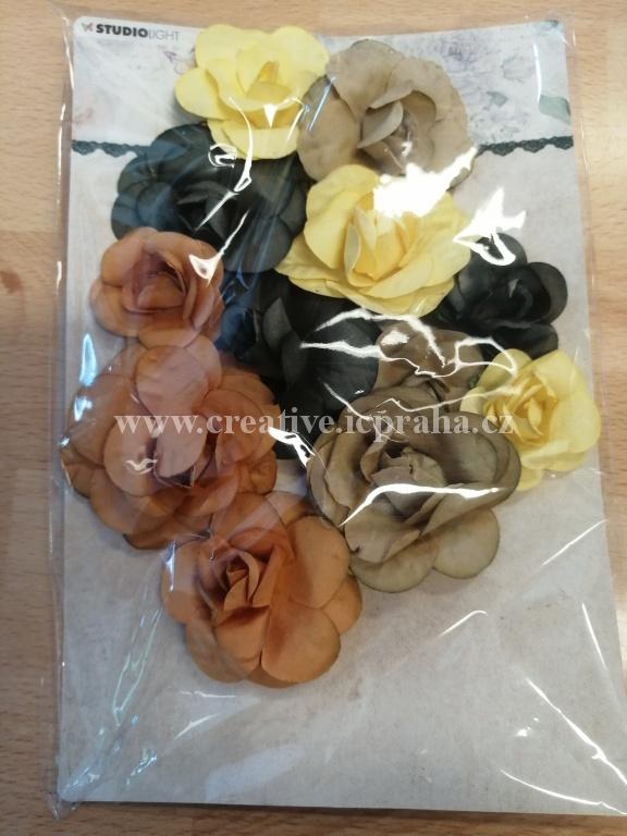kytičky růže - modré sv.12ks PD151-07