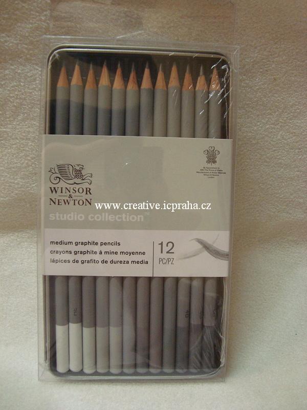sada tužek grafitových W&N 12ks 4H-6B