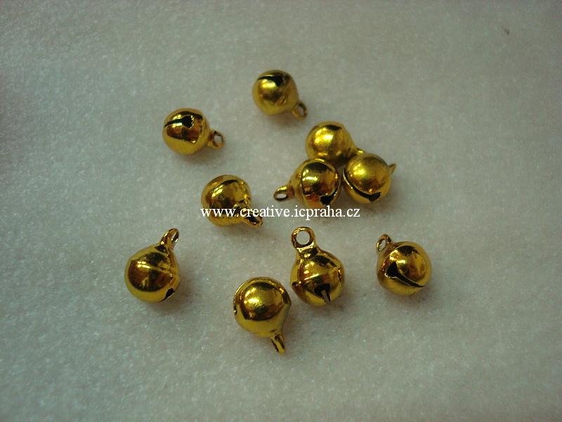 kov - rolnička zlatá 8mm bal. 10ks