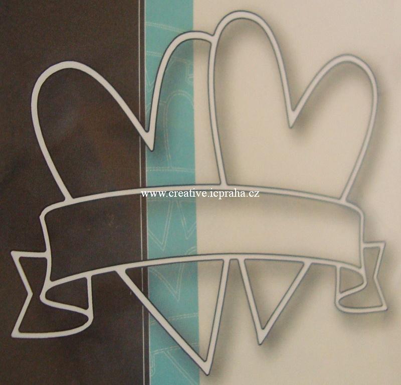 vyřezávací šablona  MB - Double Heart