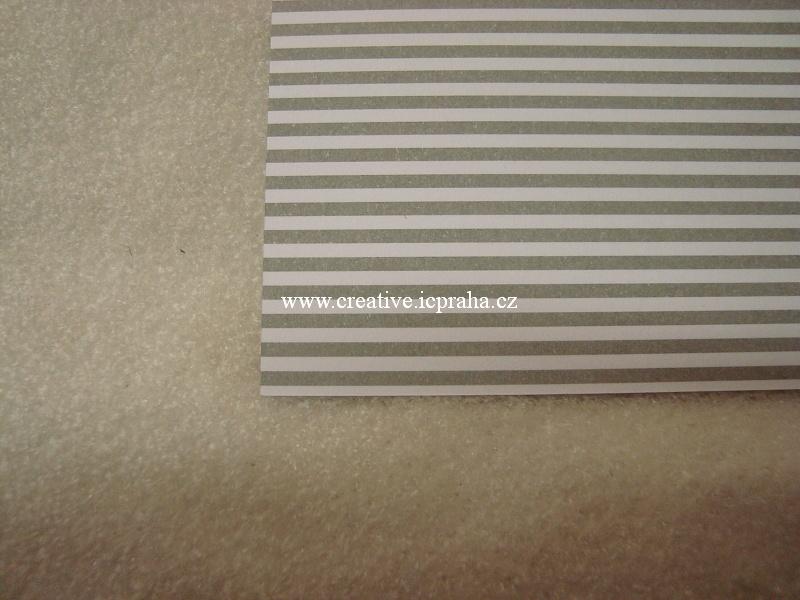 karton 300g/m2 A4 šedé proužky