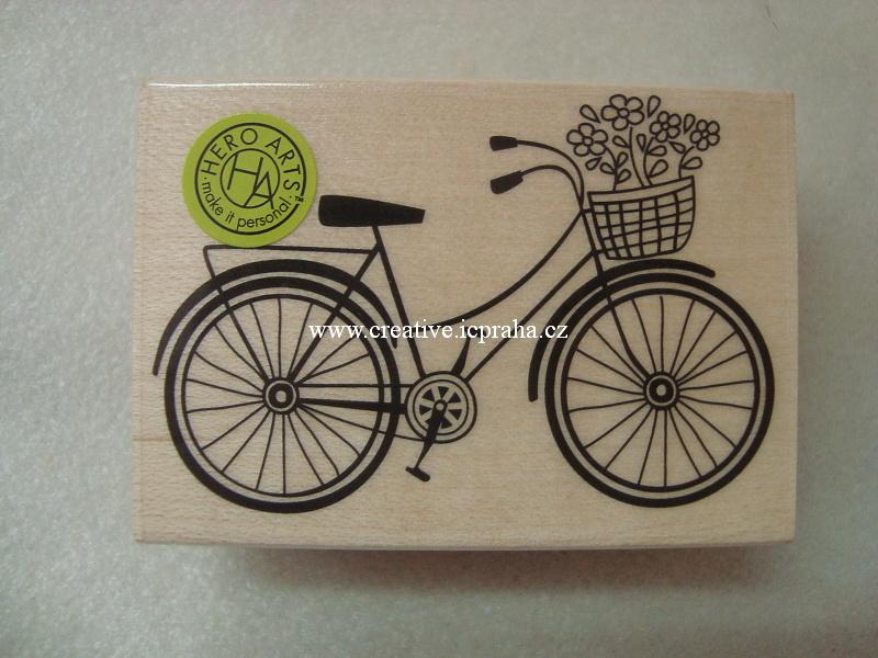 raz. dřevěné Hero Arts - Bicykl s košíkem 6,5x4,cm