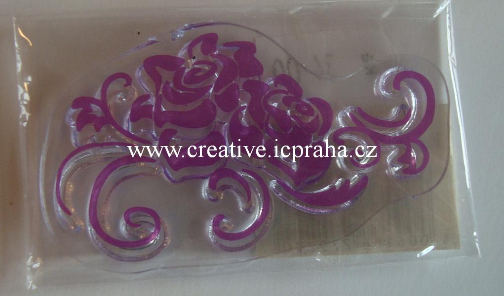 silikonová razítka - mini - růže 28-183-00