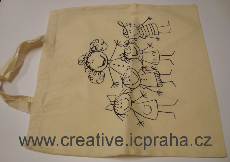 bavlněná taška s obrázkem 38x42cm