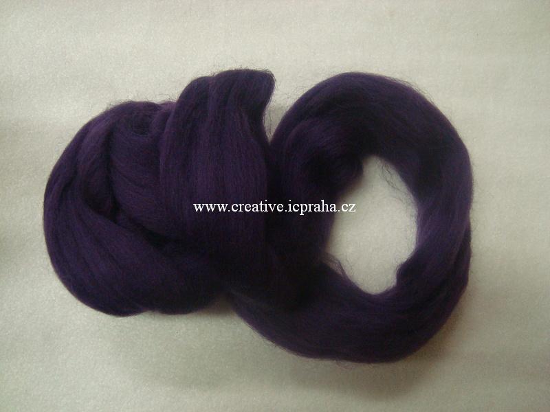 ovčí vlna Shetlandská 25g fialová modrá