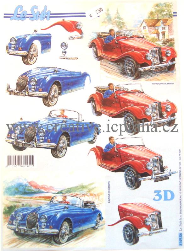 3D historická auta
