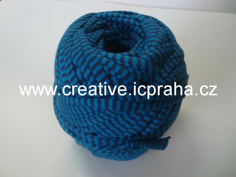 hobby špagáty cca 100m - proužek modrá/černá