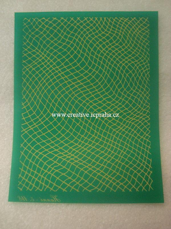 Silk screen šablona - tráva a kapky S03
