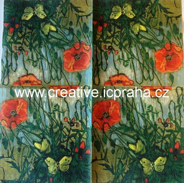 Vlčí máky a motýli - Van Gogh AMB61456135