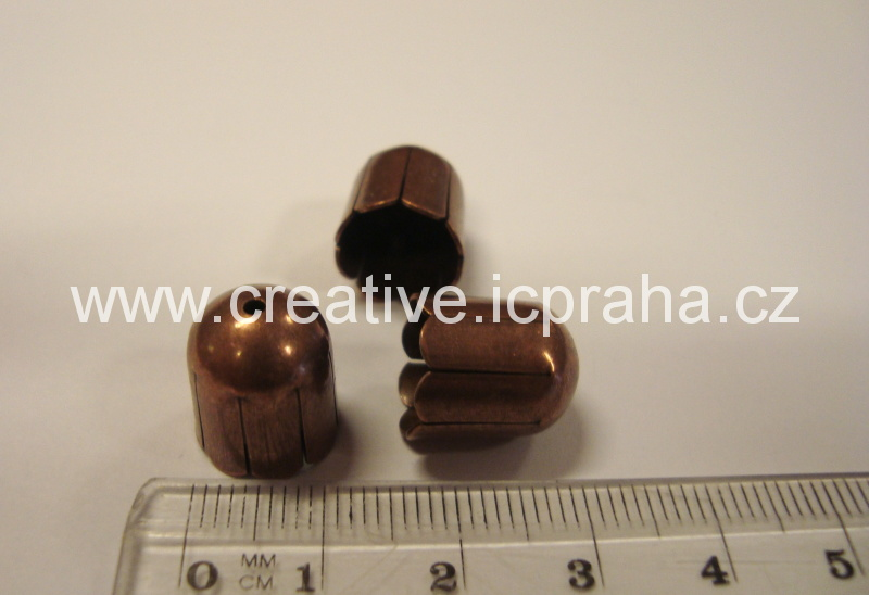 Kaplík 14mm měď - zvonek sud