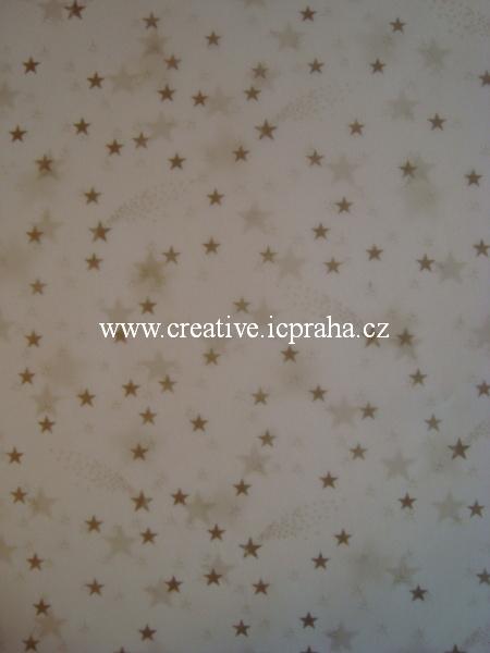 transp.papír 23x33cm - hvězdičky  88403