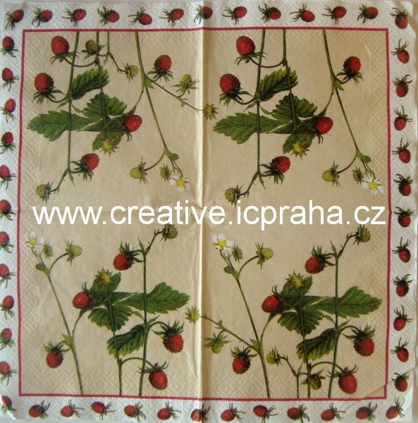 jahodové větvičky v rámečku  VIVA