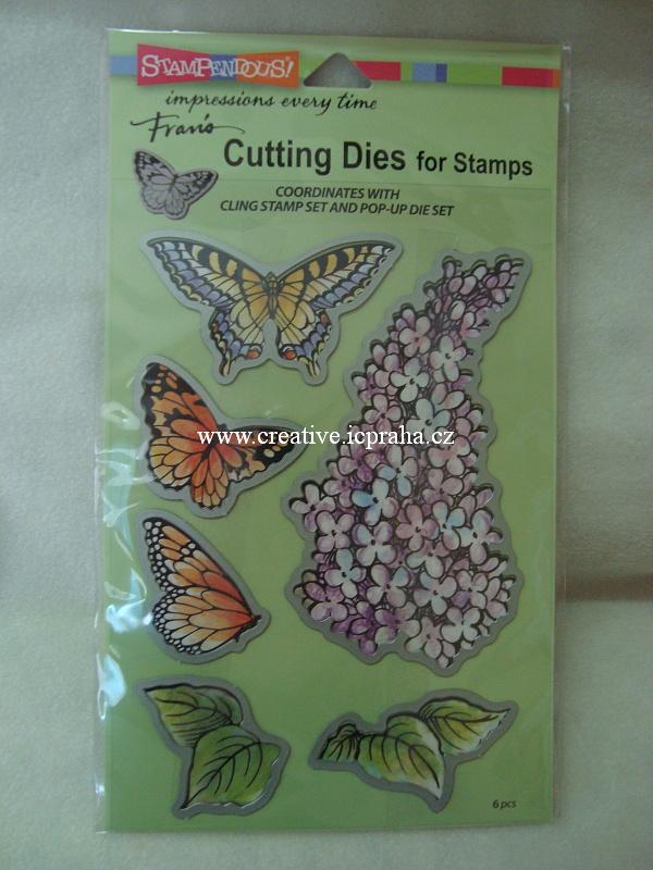 řezací nože pro razítka - Šeřík a motýli6 STMP5093