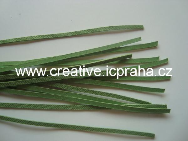 Kůže plochá zelená sv. cca 110cm