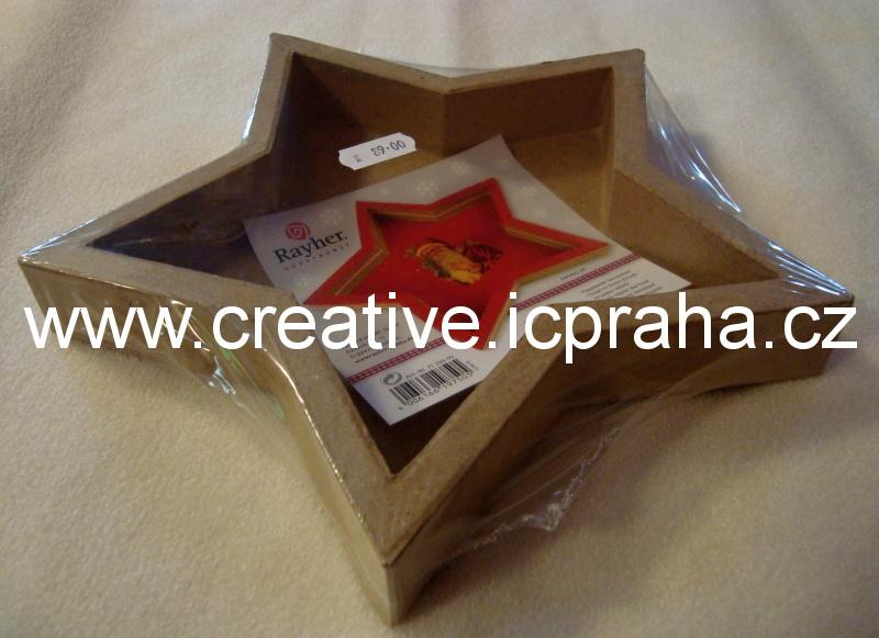 svícen karton hvězda  23,5cm 7139900