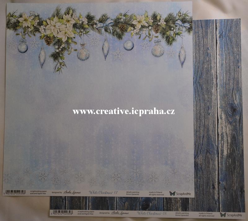 BoBunny pruhy s květy 30,5x30.5cm 293