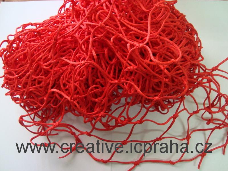 síťka uzlová 3x1m červená (oko 5cm) polypropylen