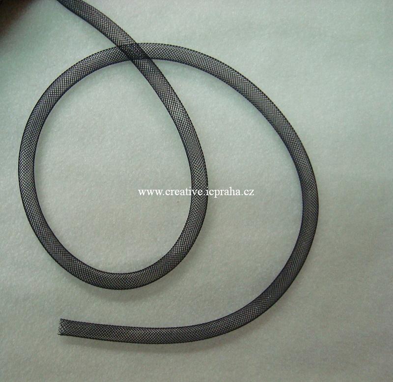 plastová dutinka prům. 8mm - černá