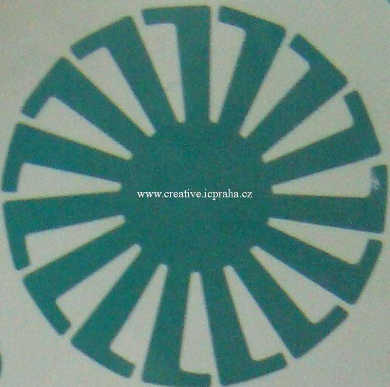 plast - šablona pro košíček prům.8cm