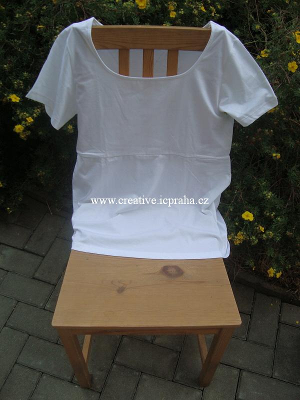 bavlněná tunika kr.r. 3XL - bílá