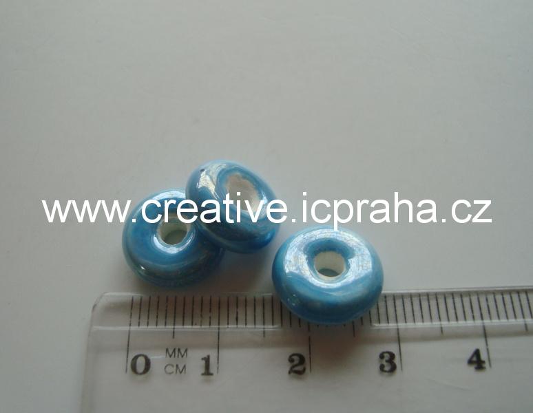 rondelka modrá cca1cm