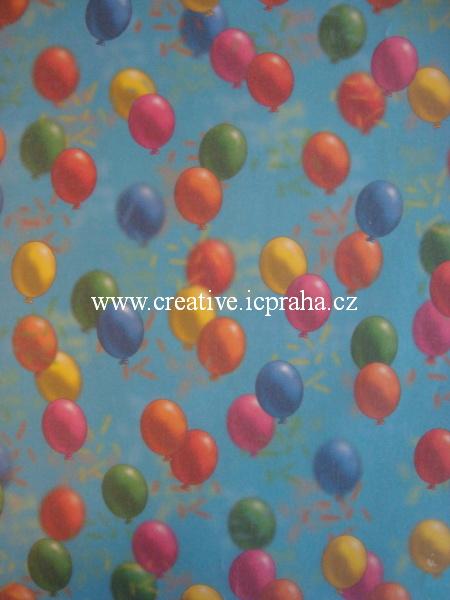 transp.papír 23x33cm - balónky 80403/SLEVA