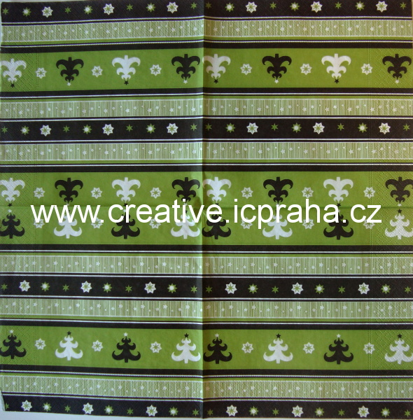 bordura ván. na zelené stromky+hvězdičky PAPER
