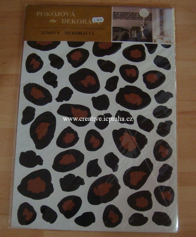 samolepka pokojová - leopardí vzor A907