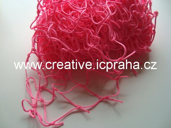 síťka uzlová 3x1m růžová (oko 5cm) polypropylen