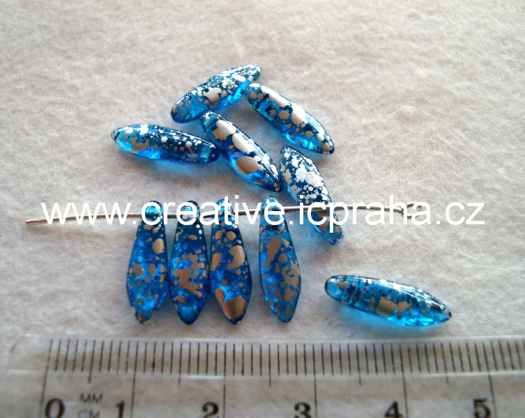 jazýčky 5x16mm modré žíhané bal.10ks