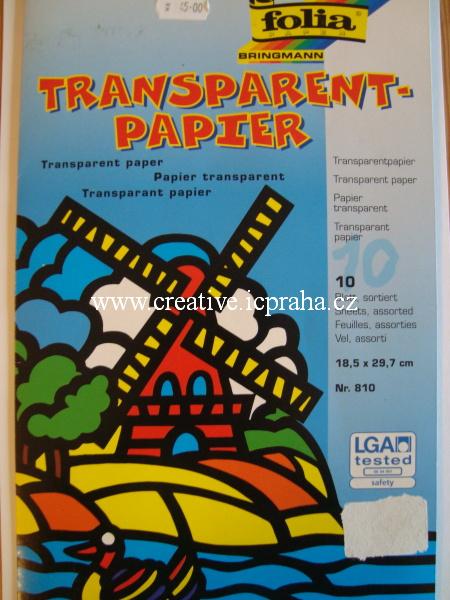transp.papír sada - různé bar.18.5x29.7 - 10ks 810