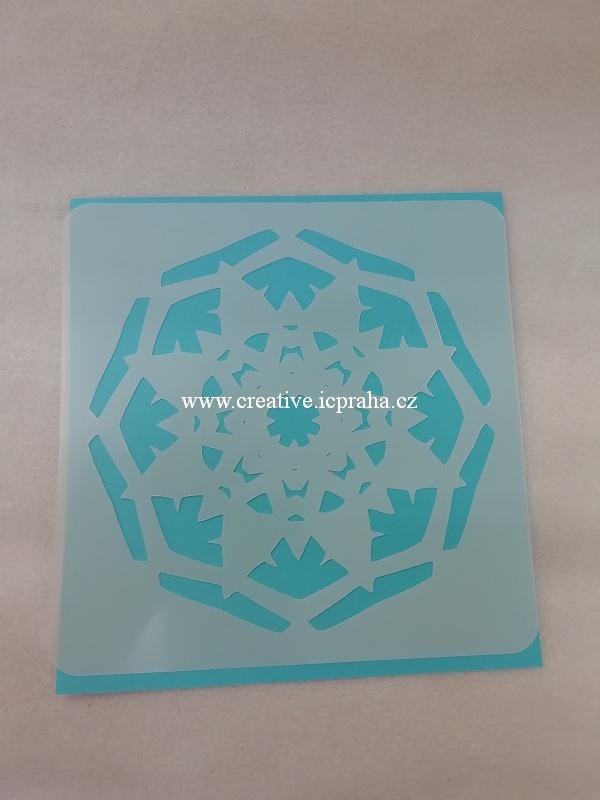 šablona plast CB 15x15cm - Srdce 85006