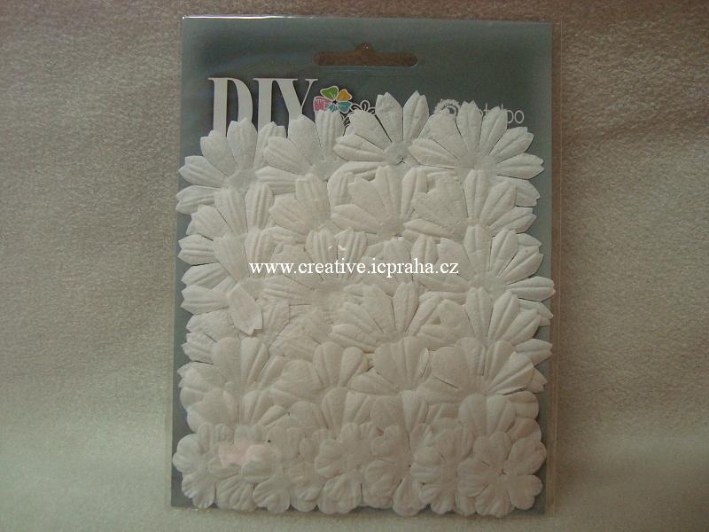 kytičky Medium layers - bílé 32ks
