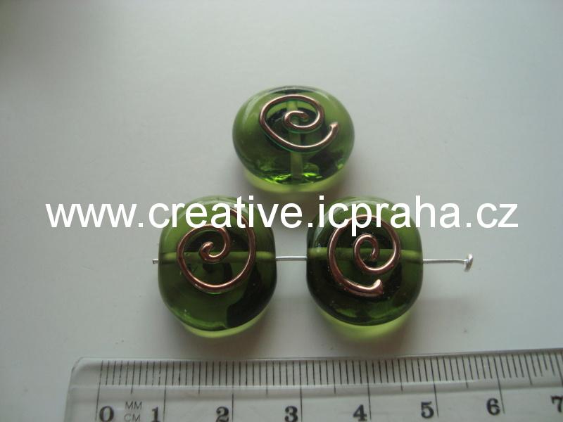 terč zelený se spirálkou 18119 21x20mm