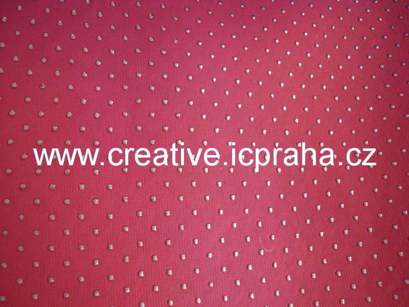 papír - bavlněný 50x70 růžová