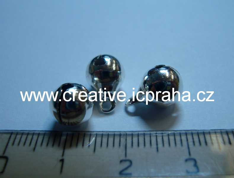 kov - rolnička stříbrná 8mm bal.10ks